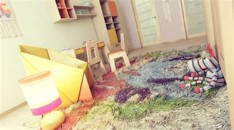 Dramatic Design Colorful Kids Bedroom Rug