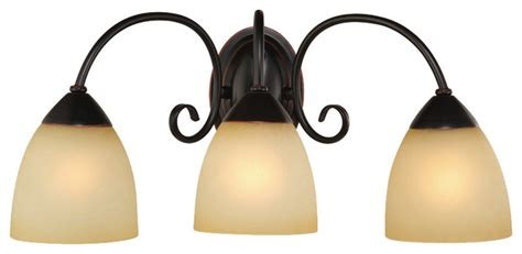 rubbed bronze 3 light bathroom vanity wall fixture