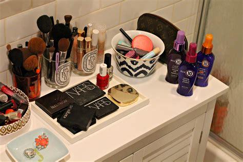 bathroom vanity with makeup counter creature of habit bows sequins