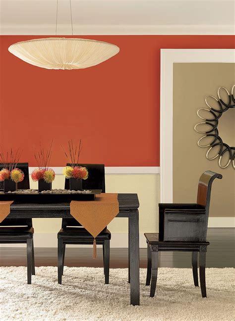 radiant orange dining room upper wall color fireball
