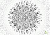 Coloring Flower Complex Pages Mandala Sheets Template sketch template