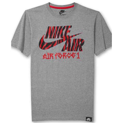 tshirt logo dtkf 1 lyst nike air 1 animalprint logo t shirt in gray