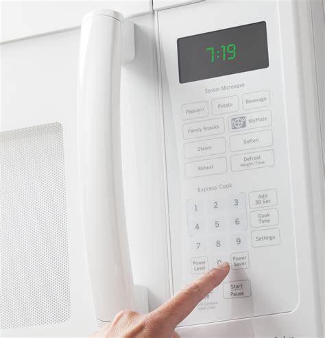 pvmdfww ge profile series  cu ft   range sensor microwave oven white