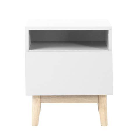 canape gris et blanc table de chevet vintage en bois blanc l 40 cm artic