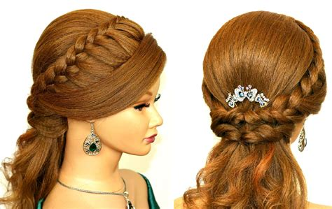 easy prom hairstyles  medium long hair romantic bridal