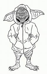 Coloring Gremlins Gremlin Printable Stripe Mogwai Sheets Gizmo Cartoon Books 80s Colouring Hoodie Omfg Clipart Sketch Template Sketches Clip Library sketch template