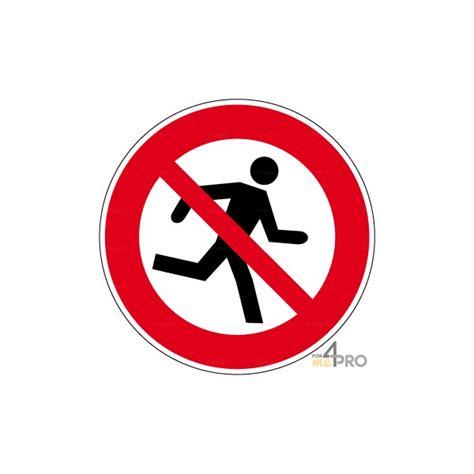 bureau controle batiment panneau interdiction de courir 4mepro