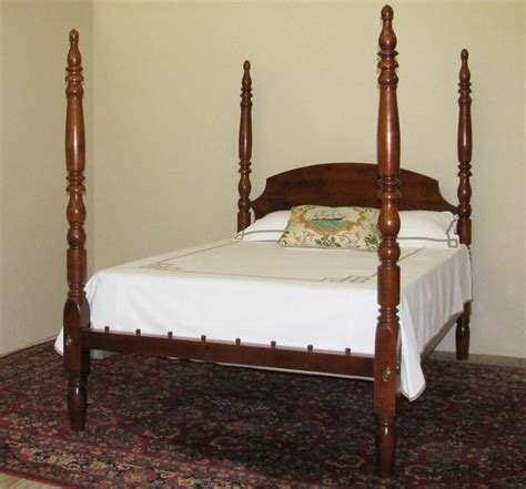 tall post country maple antique bed traditional beds