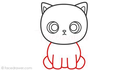 draw cat  kids learn   draw cute cat step