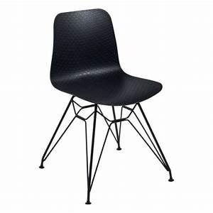 Chaise Design Metal : chaise design en polypropyl ne et m tal c leste 4 pieds tables chaises et tabourets ~ Teatrodelosmanantiales.com Idées de Décoration