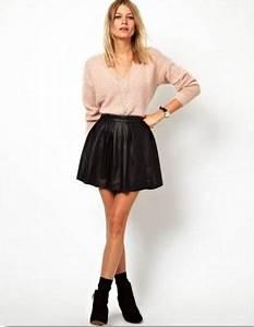 Bottines Avec Robe : la jupe en cuir comment la porter beprettyheidi ~ Carolinahurricanesstore.com Idées de Décoration