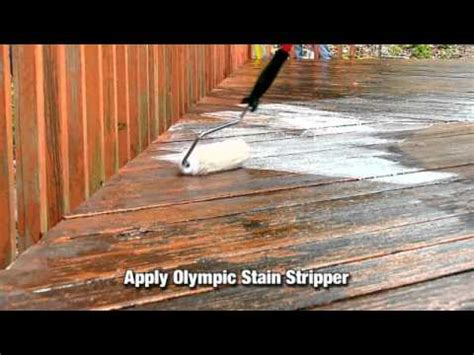strip  wood  deck stain  paint youtube