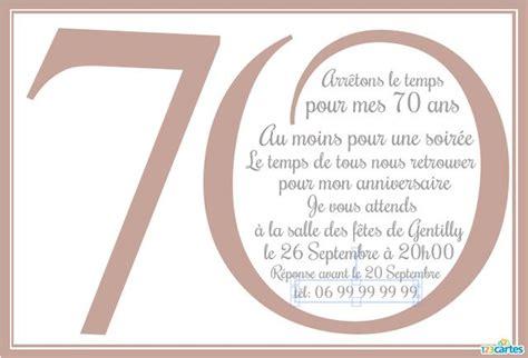 Invitation Anniversaire 70 Ans En Chiffres