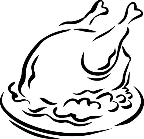 turkey clipart black and white cooked turkey clipart clipart panda free clipart images