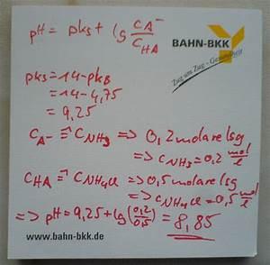 Ph Puffer Berechnen : chemie mb umsatzberechnungen ~ Themetempest.com Abrechnung