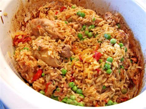 slow cooker arroz  pollo recipe genius kitchen