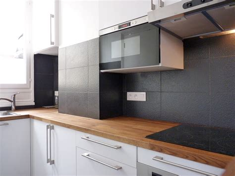 credence inox cuisine ikea réorganisation espace cuisine et salle de bain petit