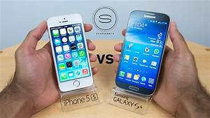 iPhone 5s vs Samsung Galaxy S4 - Hands-on - YouTube