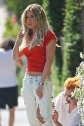 Ashley Tisdale in Red Mini Skirt - Candids from Photoshoot ...