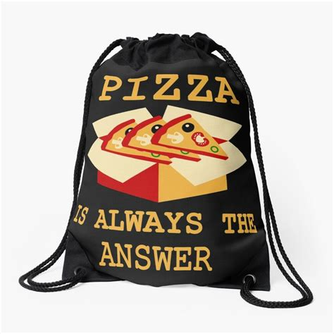 'Funny Pizza Lover Tees' Drawstring Bag by Bettylop in ...