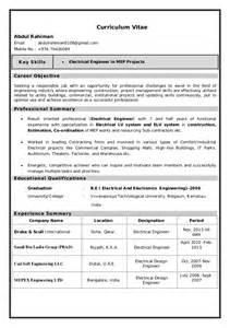 resume of an electrical design engineer electrical engineer resume