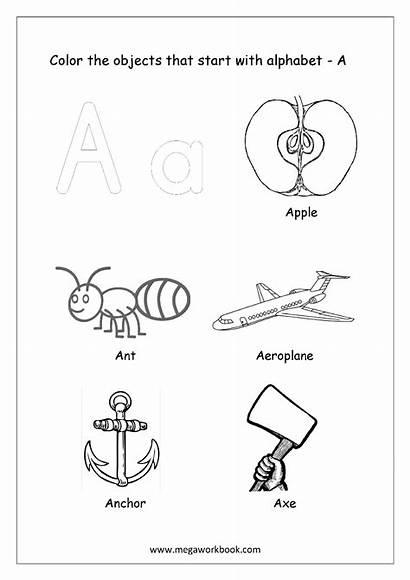 Start Coloring Letter Alphabet Worksheets Printable English