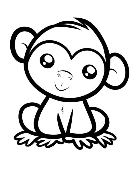 Dessin Animaux Facile Singe 11 Coloriage De Singes Coloriages Pour Enfants