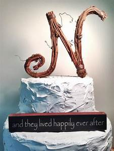 letter n rustic handcrafted wedding cake topper 2342077 With letter n cake topper