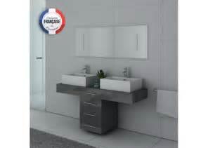 meuble de salle de bain gris taupe dis988gt meuble de salle de bain 2 vasques salledebain