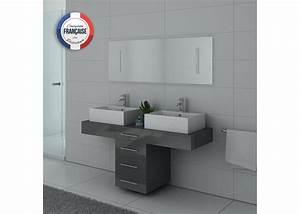 Meuble De Salle De Bain Gris : meuble de salle de bain gris taupe dis988gt meuble de salle de bain 2 vasques ~ Preciouscoupons.com Idées de Décoration