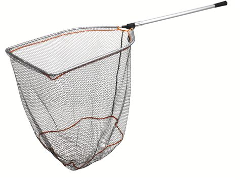 Large Boat Landing Net by Savage Gear Telescopic Folding Rubber Mesh Landing Net