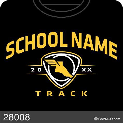 track  field varsity mascot  custom school