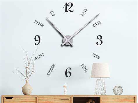 Wandtattoo Uhr Geschriebene Zeit Wanduhr Wandtattoode