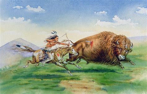 Buffalo Indian Art