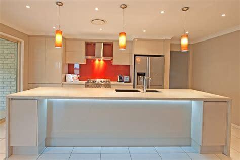 breakfast bar kitchen island led lighting brisbane kitchen renovations