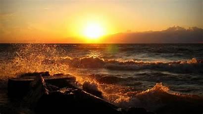 Backgrounds Ocean Sunset Wallpapers Pixelstalk