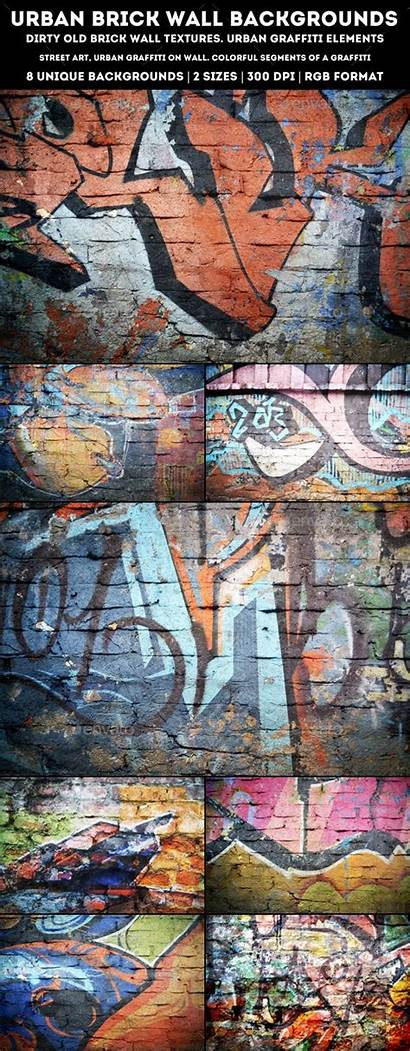 Urban Brick Wall Backgrounds Graphicriver