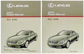 free online auto service manuals 2000 lexus sc electronic toll collection 2002 lexus sc430 factory service manual set original shop repair factory repair manuals