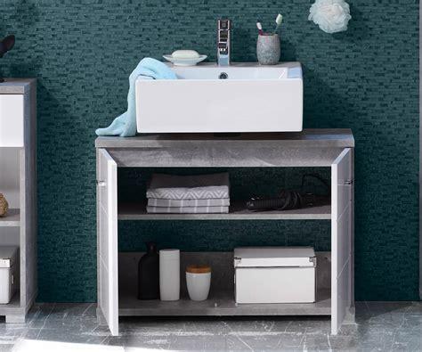 waschbeckenunterschrank 80 cm waschbeckenunterschrank petre 80 cm weiss grau beton optik m 246 bel badm 246 bel