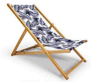 Chilienne En Bois : chilienne bois motif palmier bleu fonc l130cm 59 salon d 39 t ~ Teatrodelosmanantiales.com Idées de Décoration