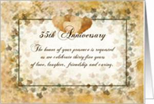 35th Anniversary Invitations from Greeting Card Universe