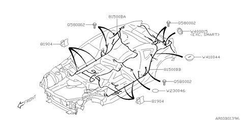 Subaru Brz Engine Wiring Diagram by 81503ca050 Genuine Subaru Wiring Harness Rear