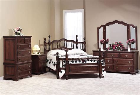 amish made beds amish wrap around bedroom furniture set 1246