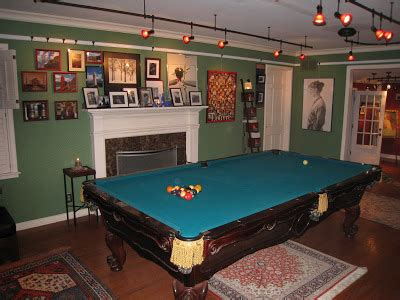 pool table in living room the world of crow march 2009