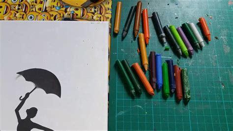 leinwand mit kindern gestalten verlaufendes regenbogen bild leinwand gestalten mit wachsmalstifte buntewelt