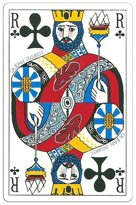 Ordered masks, gloves, and hand. King of clubs Ocean Playing Cards | Cards, Playing cards, Vintage playing cards