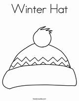 Hat Coloring Winter Pages Hats Scarf Clipart Outline Clip Boys Twistynoodle Visit Ll Library sketch template