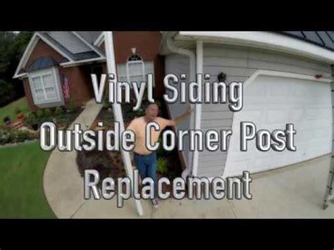 Vinyl Siding Outside Corner Post Replacement Youtube