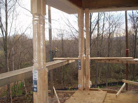 unique wooden pole design  home terrace  ideas