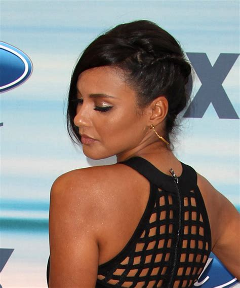 jessica lucas formal long straight updo hairstyle